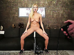 Blonde Clara G. with big melons is horny as hell