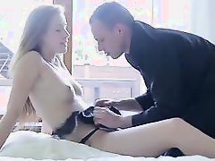 naughty blonde will do anything for money