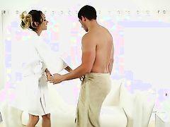 slippery sensual massage with a hispanic cutie