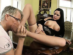 Anastasia Brill has the perfect little feet for cock