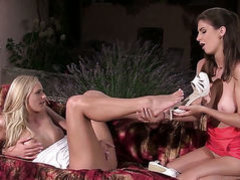 Chelsey Lanette with small tits and shaved muff gets