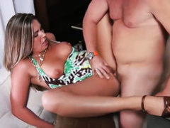 Blonde cant stop touching her wet spot