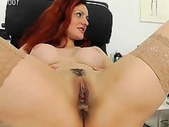Busty cowgirl doggystyle creampie