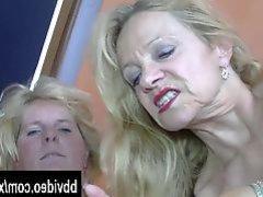 Bisexual german mature women fucking in threesome