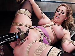 cherie gets bonded with strong ropes