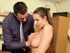 Busty pussy anal cumshot