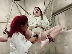 tied up lesbian gets orgasmic pleasures