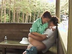 kinky couple fuck out in the woods