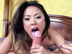 Kaylani Lei and Bradley Remington have oral sex