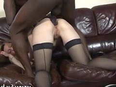 Mature Louise anal fucked by a huge black cock