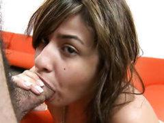 Naked sexy Esperanza Rojas gives blow job non-stop