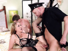 Julia Ann does it with two men