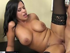 Young Lacie James seduces with her big tits and wet pussy