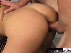 Teen Christiana Cinn fucks and sucks her step brother