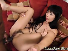 Asian ho black cock anal