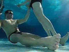 fun underwater in a swimming