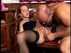 Sexy redhead in stockings - DBM Video