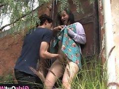 Busty Australian lady Aeryn gets fucked hard
