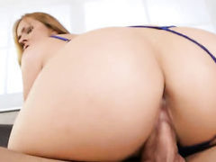 Blonde Elexis Monroe spends time fucking herself