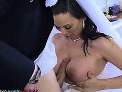 Busty Bride Simony Diamond Enjoys Best Mans Schlong