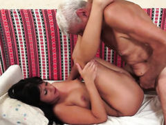Yummy vixen makes man happy by sucking his love torpedo
