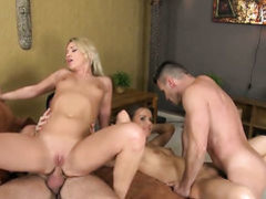 Brunette Lindsey Olsen makes Choky Ices stiff dick disappear