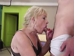 Old Grandmother suck and fuck young boy