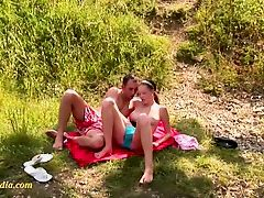 very young girl with big tits pissing outdoor.mp4