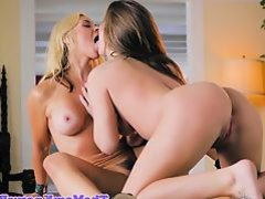 Lesbo stepmom scissoring in forbidden duo
