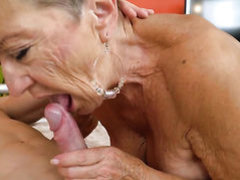 Mature goddess with juicy hooters enjoys another nice cumshot session