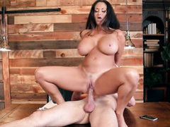 Brunette Ava Addams with juicy jugs fucking like a