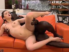 BLACK4K. Interracial sex is surely the best gift for ...