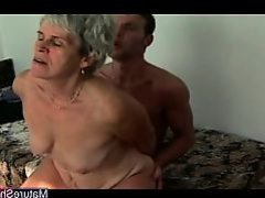 Ugly Grandma Fucked by a Stud
