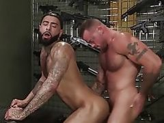 RagingStallion Doggystyle In Gun Store With Sean Duran