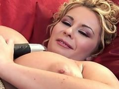 Beautiful Busty Milf Plays With Her Toy