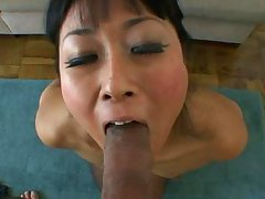 nippon nympho squirts and sucks a  dick