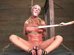 simone is punished for being bad... and loves it!