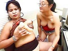 two naughty midgets making lesbo love