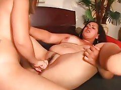 Uncovered BBW girl-on-girl attains fuck hole forced with dildo