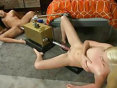 ashli and callie have lots of fun with fucking machines
