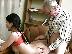Pounding chick's tense fur pie