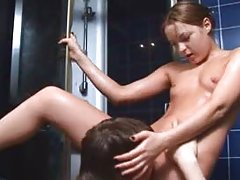 luxury double act have anal satisfaction in a shower