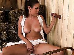 Sexy infant Bonnie Shai enjoys large shlong