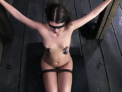 blindfolded, tied and organized to get fucked