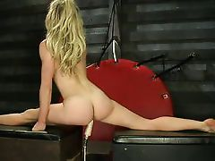 sweaty anus flexible fairy-haired bonked by a machine