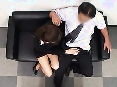 asian babe tired at work