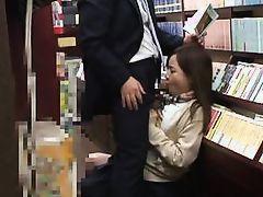 japanese slut fucked in the bookstore