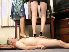 2 Goddesses Trample, Foot and Heel Fixation