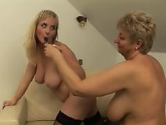 Cute Front bumpers Lesbian Licks Granny Till This girl Orgasms